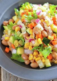 大豆と彩り野菜のチョップドサラダ