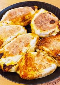 HMで簡単時短おやき風焼きカレーパン
