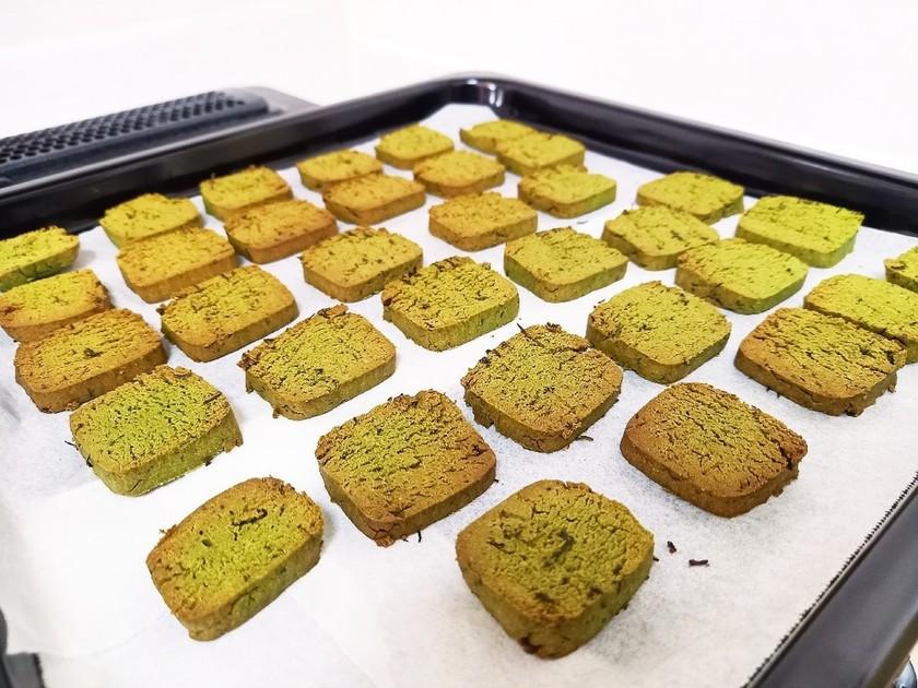 おからパウダーで緑茶クッキー
