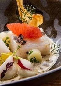 鱈のコンフィチュールと菊芋