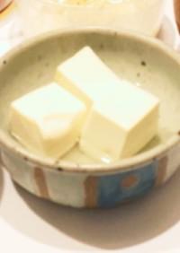 我が家のシンプル湯豆腐