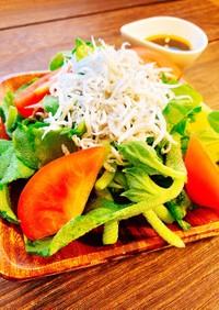 アイスプラントとトマトのしらすサラダ♡