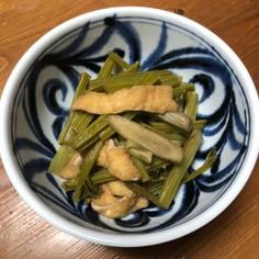 旬!葉ごぼうの煮物