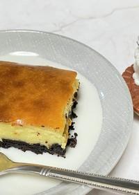 簡単失敗なし☆オレオベイクドチーズケーキ