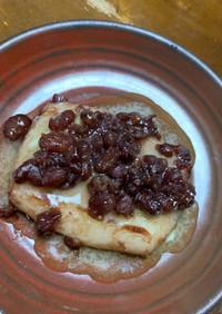フライパン焼き餅…あんバタ餅