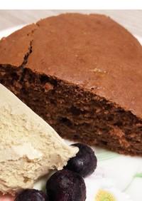 酒粕と板チョコとHMで簡単チョコケーキ