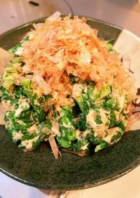 おひたしふうツナとカラシ菜サラダ