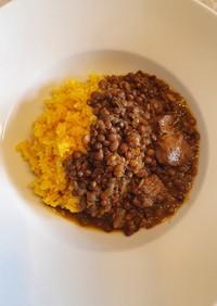 レンズ豆と豚肉のスパイスカレー