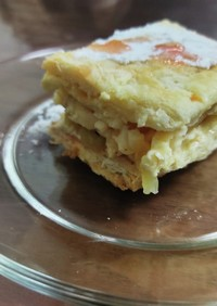 りんご煮のミルフィーユ風ムースケーキ