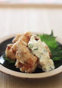 冷凍豆腐のから揚げ・大葉タルタルソース