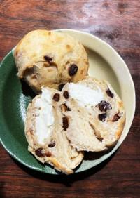 レーズン&ナッツクリチ丸パン