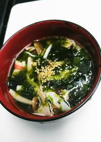 韓国のりとカニかまの中華風スープ
