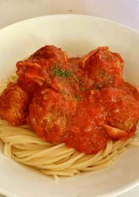 ミートボールのトマトソーススパゲティ