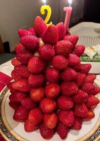 華やかいちごのタワーケーキ♡♡♡