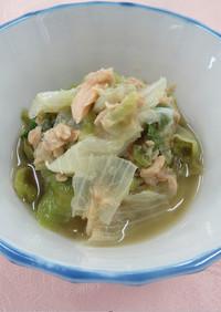 【使いきり】レタスとツナのお手軽レンジ煮