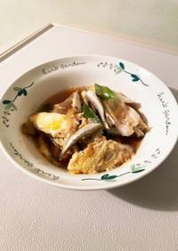 ワカサギ(チカ)柳川鍋