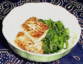 豆腐と春菊のだし醤油味