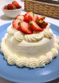レンジで簡単!苺のチーズケーキ♡