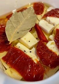 豆腐とドライトマトのカプレーゼ風
