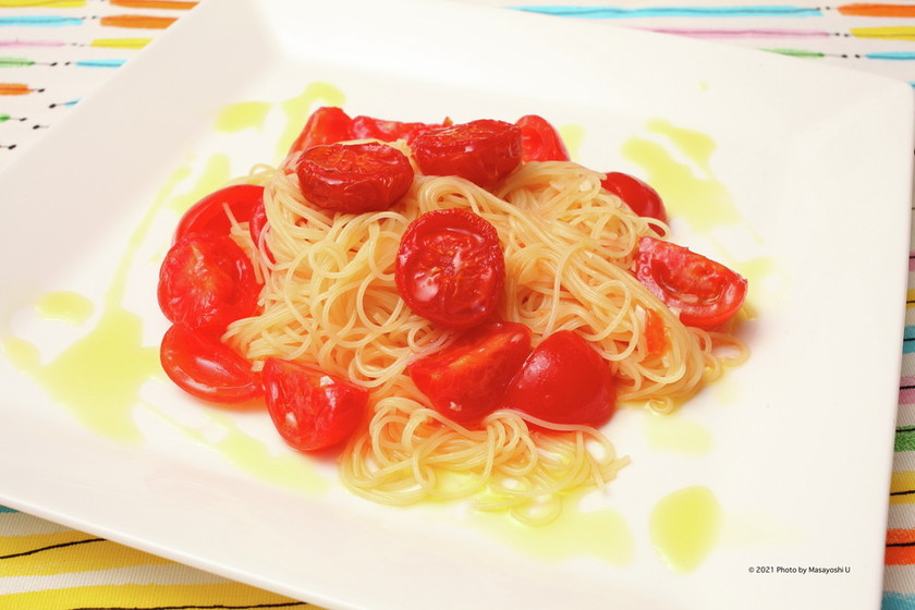 フレッシュ&セミドライトマトの冷製パスタ