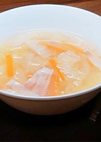 ボーンブロスの簡単ベーコンと白菜のスープ