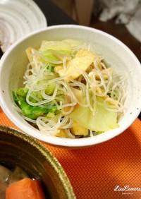 白菜と油揚げと春雨のサラダ