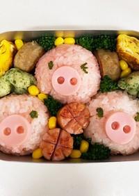 簡単キャラ弁★3匹の子豚