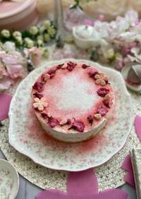桜香るふんわりなめらかレアチーズケーキ