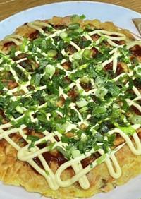 魚肉ソーセージで白菜と椎茸のお好み焼き