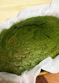 《スイーツ》濃厚抹茶あずきシフォンケーキ