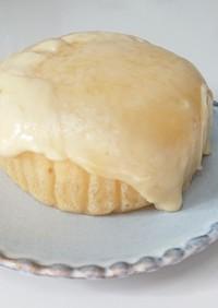 蒸しパンアレンジ♪観音屋チーズケーキ風