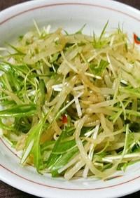 もやしと水菜のピリ辛サラダ