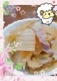 白菜と豚ばらの炊飯器煮込み