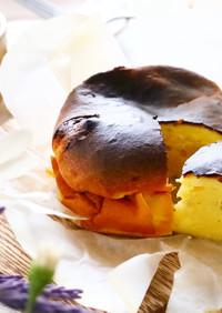 水切りヨーグルトでバスクチーズケーキ風♡