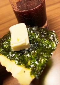 クリームチーズと韓国海苔で即席おつまみ