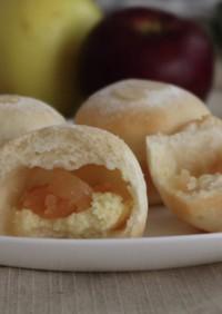 りんごとクリームチーズの白パン