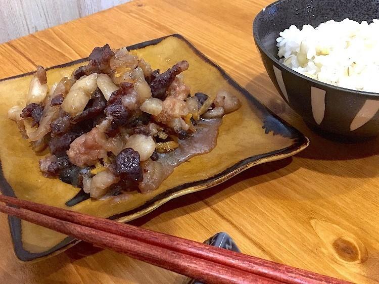 しょうがたっぷり♬猪肉と豚バラのしぐれ煮