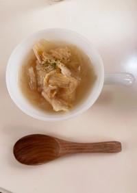 白菜 大量消費 シンプルなスープ
