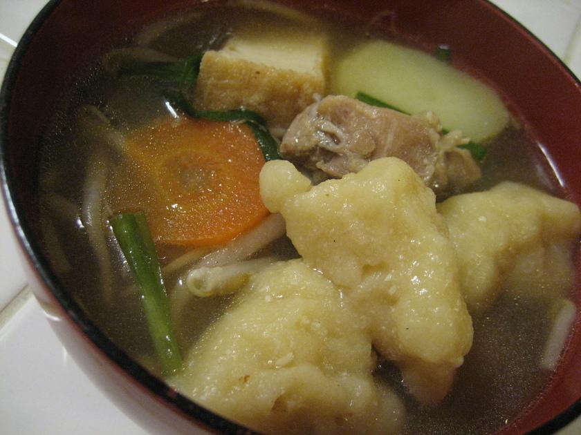 豆腐ですいとん!簡単・失敗なし^^