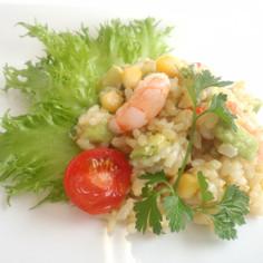 時短・簡便 発芽玄米のライスサラダ