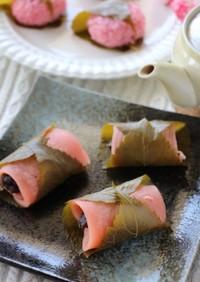 レンジで簡単♪もっちもちの関東風桜餅