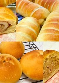 竹輪パン・肉まんパン【同じ生地で♪簡単】