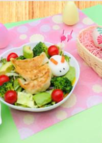 肉餃子の簡単パワーサラダ&特製美味ドレ♡