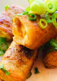 ダイエット美容♡厚揚げと豚肉の塩山椒焼き