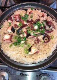 土鍋で炊く簡単たこめし