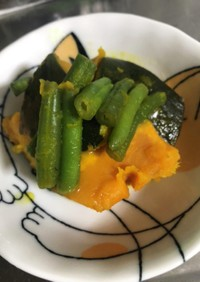 レンジで冷凍かぼちゃの煮物
