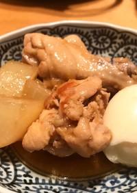 鶏手羽元と大根のあっさり黒酢煮
