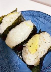 筍ご飯の韓国風おにぎり