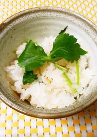 香り爽やか♫生姜と三つ葉の炊き込みご飯