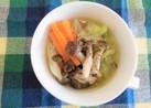 【減塩汁物】春キャベツのスープ